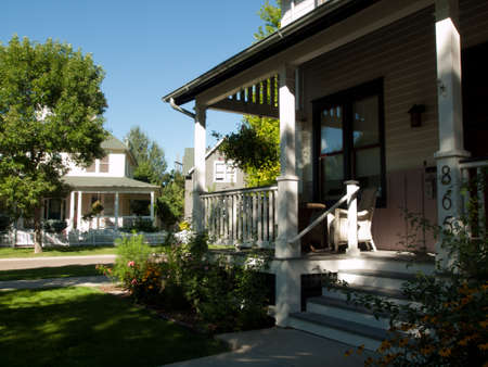 House in new urbanism development of Prospect project in Longmont, Colorado. Editorial