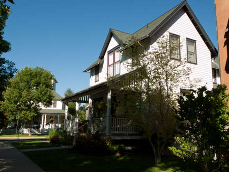 suburbs: House in new urbanism development of Prospect project in Longmont, Colorado. Editorial