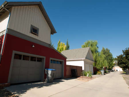 House in new urbanism development of Prospect project in Longmont, Colorado. Stock Photo - 10581828