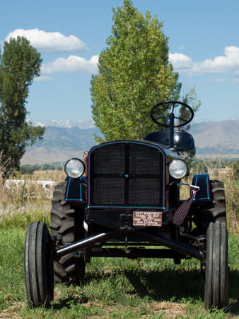 yesteryear: Old car on the display at the Yesteryear Farm Show in Longmont, Colorado. Editorial