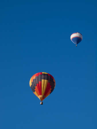 Hot air balloons in a field during a festival in Loveland, Colorado. Stock Photo - 10604043
