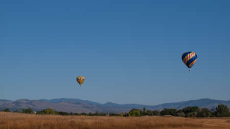 loveland: Hot air balloons in a field during a festival in Loveland, Colorado.