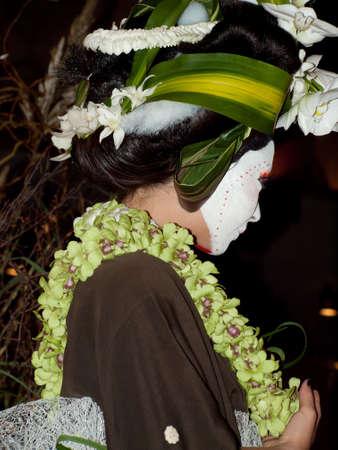 denver botanical gardens: Wild floral arrangements at the White Roses for the Bride, Red Begonias for the Dictator With a Floral Fashion Show by Arthur Williams, Babylon Floral Design in Denver Botanical Gardens 2011.