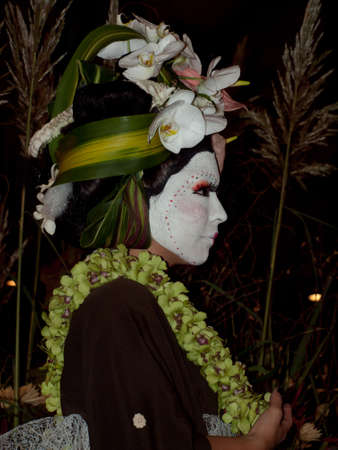 denver botanical gardens: Wild floral arrangements at the White Roses for the Bride, Red Begonias for the Dictator With a Floral Fashion Show by Arthur Williams, Babylon Floral Design in Denver Botanical Gardens 2011.
