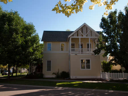 urbanism: House in new urbanism development of Prospect project in Longmont, Colorado. Editorial