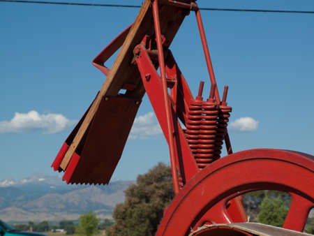 yesteryear: Old farm equipment on the display at the Yesteryear Farm Show in Longmont, Colorado.