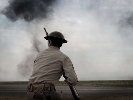Reenactment of attack on Pearl Harbor at the Rocky Mountain Airshow in Broomfield, Colorado. Stock Photo - 10635657
