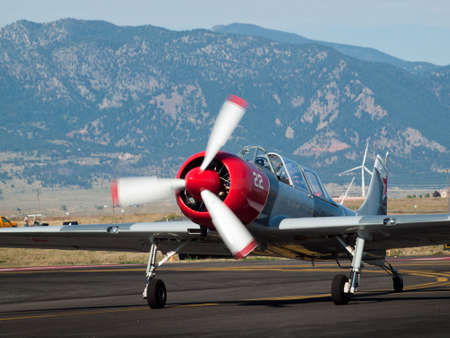 broomfield: Vintage airplane at the Rocky Mountain Airshow in Broomfield, Colorado. Editorial
