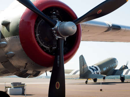 broomfield: North American B-25J Mitchell sn 44-29199, In The Mood, N9117Z (NL9117Z), nose art, 2011 Colorado Sport International Air Show, Rocky Mountain Metropolitan Airport. Editorial