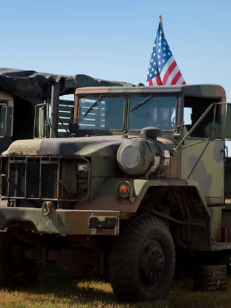 Army camouflage Humvee at the Rocky Mountain Airshow in Broomfield, Colorado.
