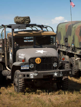 broomfield: Army camouflage Humvee at the Rocky Mountain Airshow in Broomfield, Colorado.