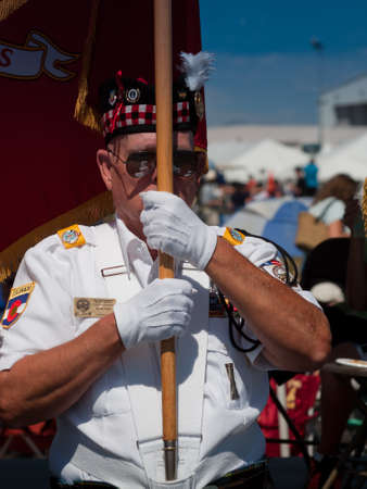 Opening parade with veterans at the Rocky Mountain Airshow in Broomfield, Colorado. Stok Fotoğraf - 10604734