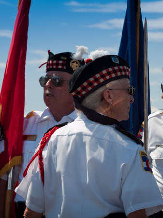 Opening parade with veterans at the Rocky Mountain Airshow in Broomfield, Colorado. Stok Fotoğraf - 10604856