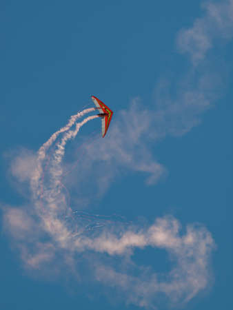 broomfield: Dan Buchanan Hang Glider demonstration at the Rocky Mountain Airshow in Broomfield, Colorado.