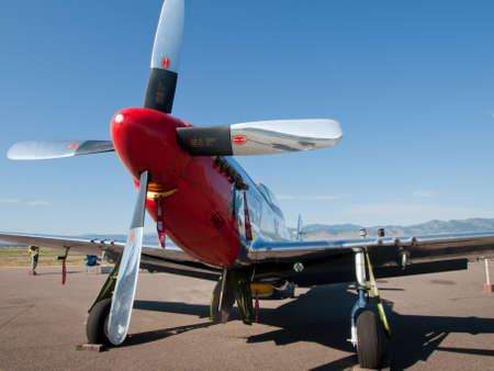 Michael Bertz North American P-51D Mustang sn 45-11636, Stang Evil, N11636, Rocky Mountain Metropolitan Airport, Broomfield, Colorado.
