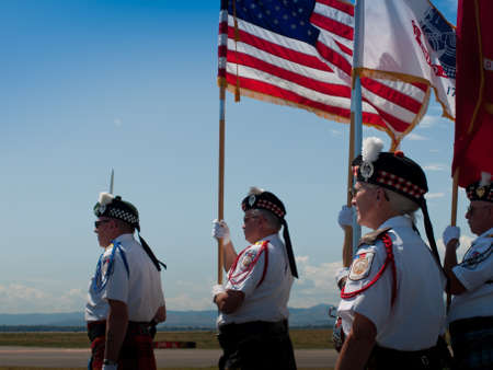 Opening parade with veterans at the Rocky Mountain Airshow in Broomfield, Colorado.