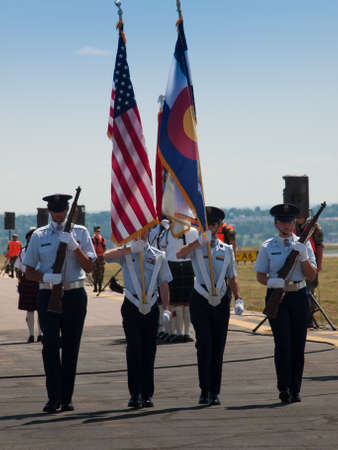 Opening parade at the Rocky Mountain Airshow in Broomfield, Colorado.
