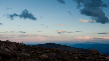 On a hazy summer Evening at 13,000 feet you can see forever--almost to the prairies of Kansas from here. Mount Evans Wilderness, Front Range, Colorado. Stock Photo - 10633901