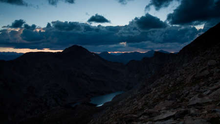 On a hazy summer Evening at 13,000 feet you can see forever--almost to the prairies of Kansas from here. Mount Evans Wilderness, Front Range, Colorado. photo