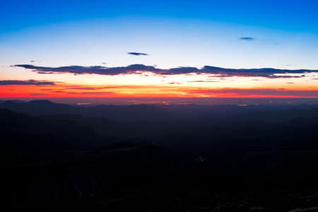 mount evans: Sunrise at 13,000 feet you can see Denver from here. Mount Evans Wilderness, Front Range, Colorado.
