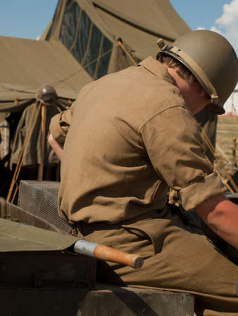 WWII reenactors at the Rocky Mountain Airshow in Broomfield, Colorado.