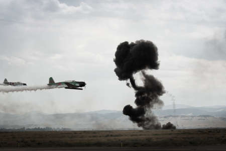 broomfield: Reenactment of attack on Pearl Harbor at the Rocky Mountain Airshow in Broomfield, Colorado.