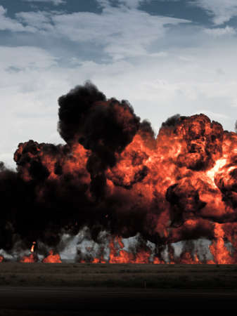 Reenactment of attack on Pearl Harbor at the Rocky Mountain Airshow in Broomfield, Colorado. Stock Photo - 10636131