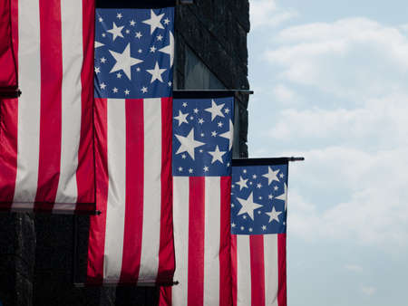 mt rushmore: American flags at the Mt. Rushmore National Monument, South Dakota.