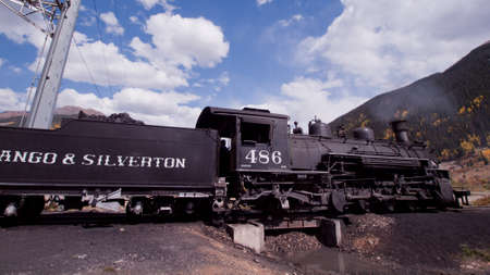 silverton: Steam locomotive engine. This train is in daily operation on the narrow gauge railroad between Durango and Silverton Colorado