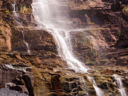 ouray: Waterfall in Ouray, Colorado. Stock Photo