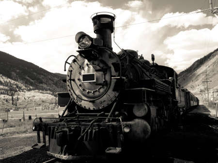 steam engine: Steam locomotive engine. This train is in daily operation on the narrow gauge railroad between Durango and Silverton Colorado