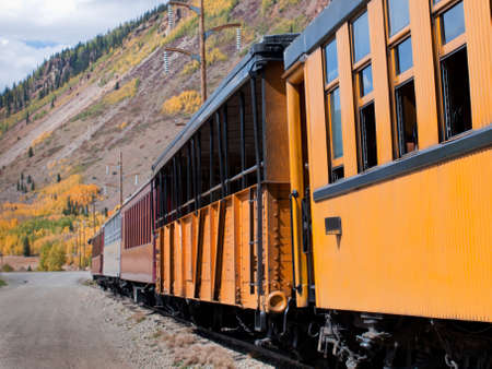 silverton: Durango to Silverton Narrow Gauge Train.  This train is in daily operation on the narrow gauge railroad between Durango and Silverton Colorado