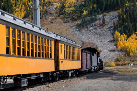 narrow gauge: Durango to Silverton Narrow Gauge Train.  This train is in daily operation on the narrow gauge railroad between Durango and Silverton Colorado