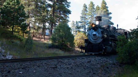 Steam locomotive engine. This train is in daily operation on the narrow gauge railroad between Durango and Silverton Colorado photo