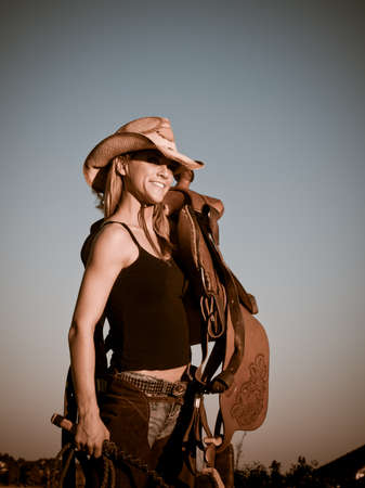 brown leather hat: Country girl on the farm. Longmont, Colorado.