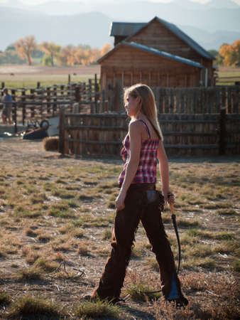 Country girl on the farm. Longmont, Colorado.