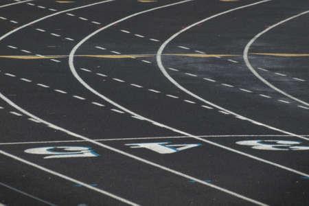 Running tracks at the high school. photo