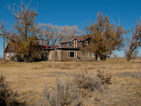 An abandoned structures on old Medano Ranch in Colorado.
