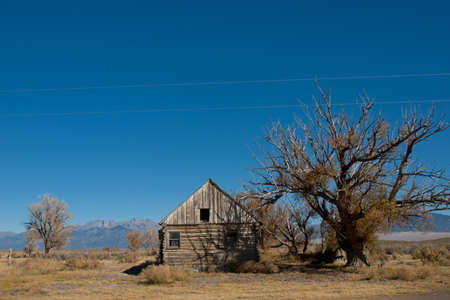 An abandoned structures on old Medano Ranch in Colorado. photo