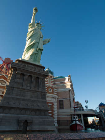Replica of the Statue of Liberty in front of the New York, New York hotel in Las Vegas.