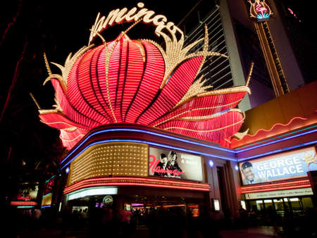 Corner view of the Flamingo Hotel in Las Vegas, Nevada. Stock Photo - 11100263