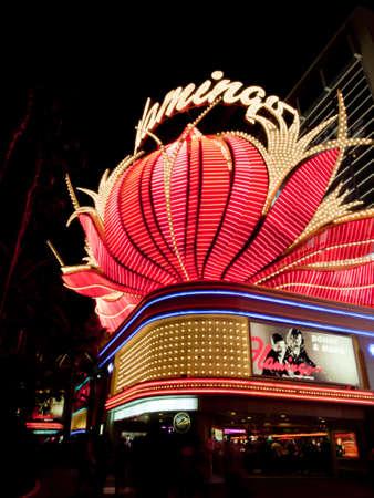 flamenco ave: Rinc�n de vista del Hotel Flamingo en Las Vegas, Nevada. Editorial