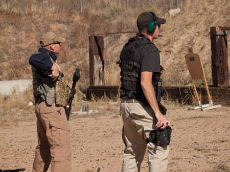 Tactical rifle training course. Course provided by Anthony Navarro from the Discovery Channel Show One Man Army. Stock Photo - 11100266