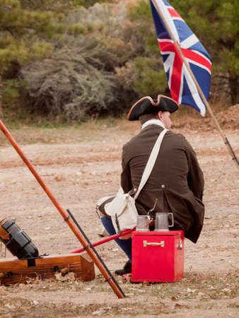 Reenactment of the Revolutionary War at the Four Mile Historic Park.  Denver, Colorado. Stock Photo - 11117174