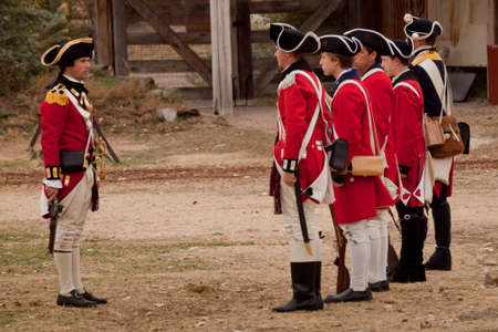 mile: Reenactment of the Revolutionary War at the Four Mile Historic Park.  Denver, Colorado.