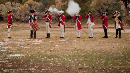Reenactment of the Revolutionary War at the Four Mile Historic Park.  Denver, Colorado. Stock Photo - 11117169