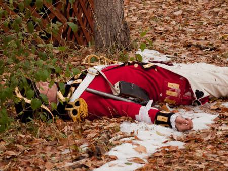 revolutionary war: Reenactment of the Revolutionary War at the Four Mile Historic Park.  Denver, Colorado.