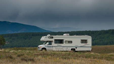 echo: Camping at Echo Canyon Reservoir, Colorado.