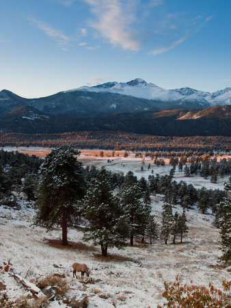 rocky mountain national park: Alba sopra Rocky Mountain National Park, Colorado.