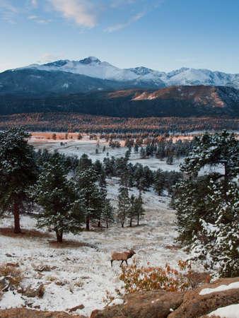 rocky mountain national park: Sunrise over Rocky Mountain National Park, Colorado.